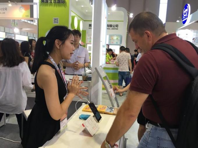 비투코리아는 지난 7월 중국에서 개최된 유아 박람회에 참여해 슬립코치 제품을 중국 시장에 선보였다. - 비투코리아 제공